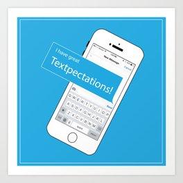 Textpectations Art Print