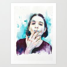 25th frame of my mind (Brian Molko) Art Print