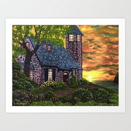 Essex House Lighthouse by Ave Hurley  Art Print