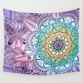 Purple Butterfly Mandala Wall Tapestry