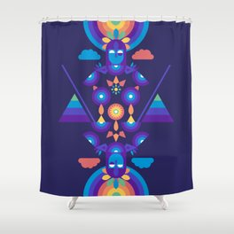 Rainbow Warrior Shower Curtain