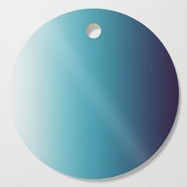 Blue White Gradient Cutting Board
