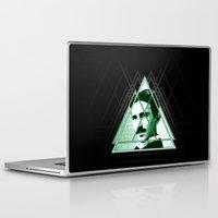 tesla Laptop & iPad Skins featuring Tri-Tesla by Rad Recorder