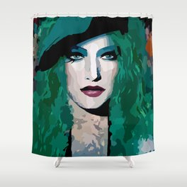 French Girl by Lika Ramati Shower Curtain