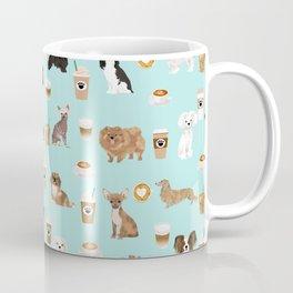 Coffee Dogs cute miniature dog breeds chihuahua bichon terrier Shih tzu pomeranian latte coffees Coffee Mug