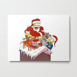 Brawl kirby gun christmas Metal Print