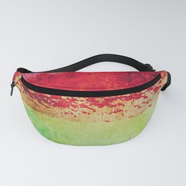 Modern Texture Red Abstract Fanny Pack