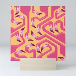 Flamingo Maze Mini Art Print