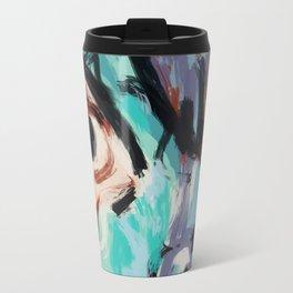 Woman and bird Travel Mug