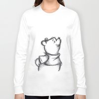 pooh Long Sleeve T-shirts featuring Insightful Pooh by Makayla Wilkerson