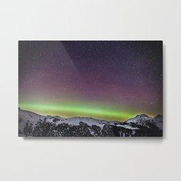 Elfin Lakes Northern Lights Metal Print