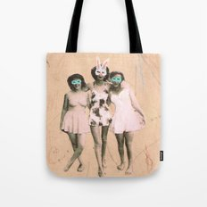 Imaginary Friends- Playmates Tote Bag