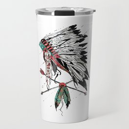 chieftain feather headdress Travel Mug
