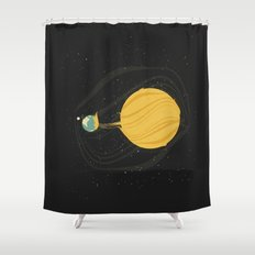 Death by Solar Flare Shower Curtain