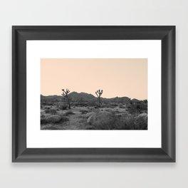 Joshua Tree in Nude Framed Art Print