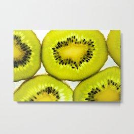 Kiwi fruit Fresh Metal Print