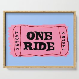 One Ride Ticket Serving Tray