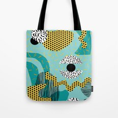 Boss - abstract 80s style memphis vibes patterns 1980's retro minimal throwback decor Tote Bag