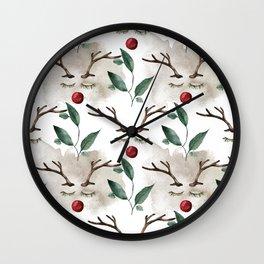Rudolph Reindeer Face Wall Clock