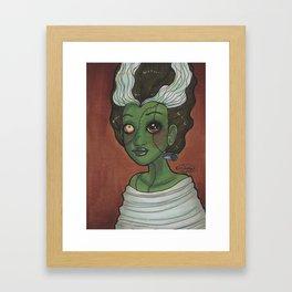 Frankengirl Framed Art Print
