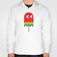 pacman Hoodies featuring Pacman ghost by Tony Vazquez