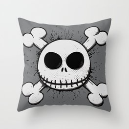 Jack Skull Throw Pillow