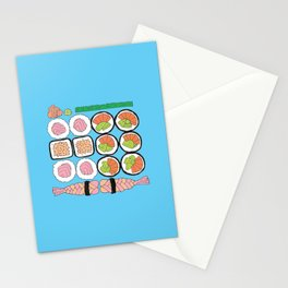 Sushi Rolls Stationery Cards