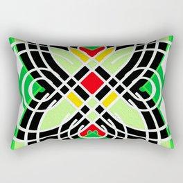 Retro 1970s Geo Butterfly Motif Rectangular Pillow