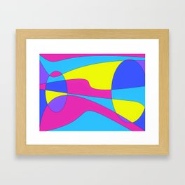 Colors in Sound Neon Framed Art Print