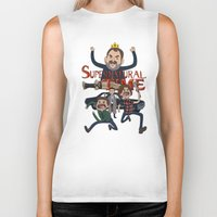 supernatural Biker Tanks featuring Supernatural Time!  by The Kao