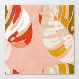 shapes leave minimal abstract art Canvas Print