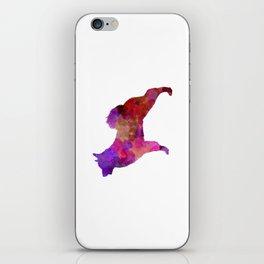 Norwegian Elkhound in watercolor iPhone Skin