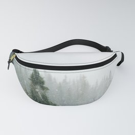Snow Covered Forest Fanny Pack