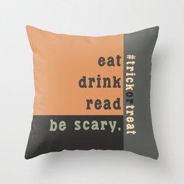 Halloween #trickortreat Throw Pillow