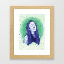 At the moss garden Framed Art Print