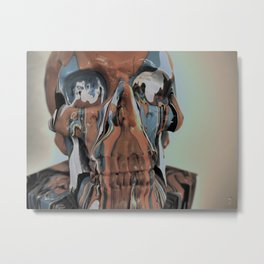 Orange Melting Face Metal Print
