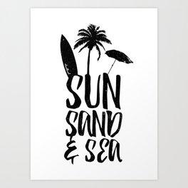 Sun Sand and Sea 2 Art Print