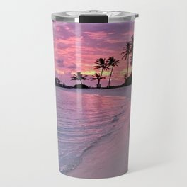 SUNSET AND PALM TREES Travel Mug