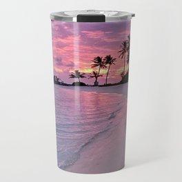 SUNSET AND PALM TREES Travel Mug