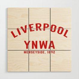 Liverpool tshirt | You'll Never Walk Alone | YNWA shirt | Premier league team Wood Wall Art