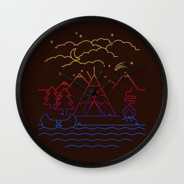 Always Camping Wall Clock