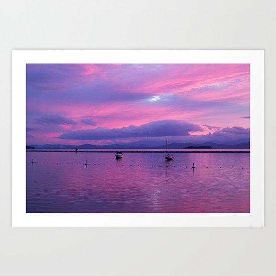 evening pastels Art Print