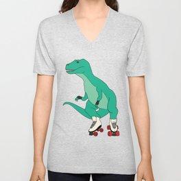 Tyrollersaurus Rex Unisex V-Neck