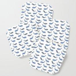 White Whaling Coaster