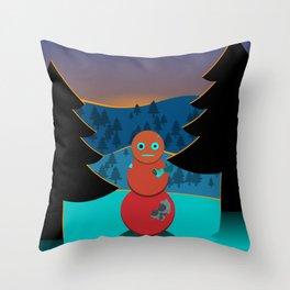 Robo' snowman Throw Pillow