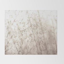 White pampas grass II Throw Blanket
