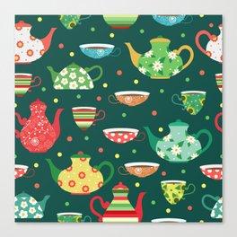 Tea pattern Canvas Print