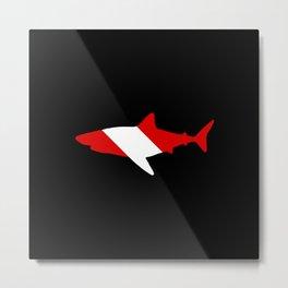 Diving Flag: Shark Metal Print