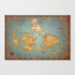 Gaia World Map- Final Fantasy VII Canvas Print