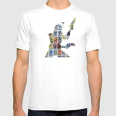 Cut StarWars Collage 9 White Mens Fitted Tee MEDIUM